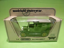 YESTERYEAR  1:43  MATCHBOX -  FORD MODEL T  Y-12  1912  - GOOD CONDITION IN BOX