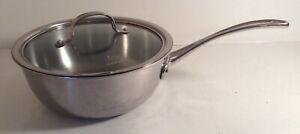 Calphalon #143 3 Quart Stainless Steel Tri Ply Cookware Saucepan Chefs Pan w/Lid