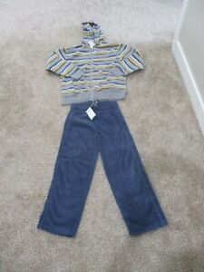 BNWT Gymboree boys fleece pants & full zip up hoodie set, size 7/8