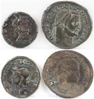 Lot of 4 Roman Empire Coins, Claudius Gothicus, Licinius, Constantine I