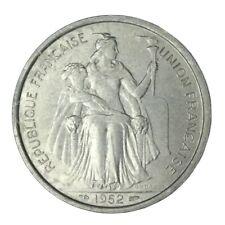 1952 French Oceania Aluminum 5 Francs Unc #