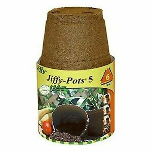 Jiffy 2', 3', 4' or 5' (in) Round Seed Starter Peat Pot [Choose Dia/Size/Pack]