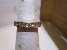 w 7 round diamonds .45 ctw Diamond Wedding/Anniversary Ring 14k yellow gold