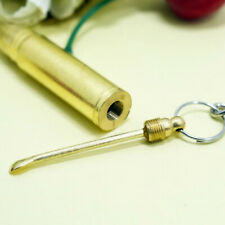 1pc Gold Bullet Key Chain Keyring Hidden Spoon Scoop Compartment Secret Storage