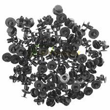 100 Pcs Fender Liner Fastener Rivet Push Clips Retainer 7mm Hole Dia For Toyota