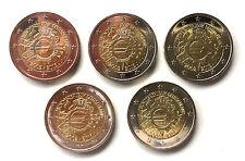 """!!! 2 Euro 2012 Deutschland Gemeinschaftsmünze """"10 Jahre Eurobargeld"""" ADFGJ !!!"""