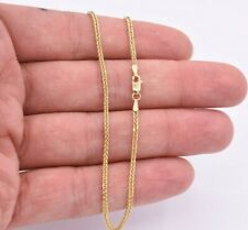 """Wheat Franco Ankle Anklet Chain Real 10K Solid Yellow Gold 10"""""""