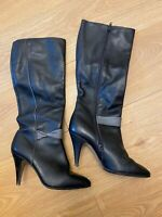 Vintage Rare Genuine Leather Boots Elastomere. The USSR. Size 5 - Now 36, Uk 3.5