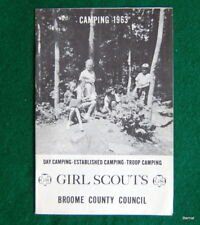 GIRL SCOUT - 1963 CAMP BOOKLET - BROOME COUNTY GIRL SCOUT COUNCIL