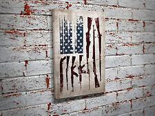 Gun Flag Canvas Print - Patriotic Wall Art