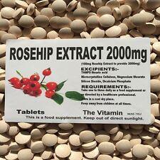 Rosehip Extracto 2000mg 180 Comprimidos 1-3 por día (L)