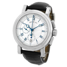 BREGUET 18K White Gold 42mm Marine Chronograph Flyback 5827 BB Box Warranty
