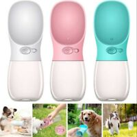 Portable Puppy Dog Cat Pet Water Bottle Drinking Cup Outdoor Travel Feeder Tool