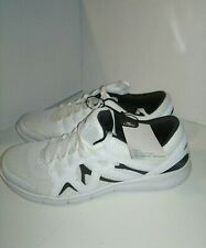 NEW!CRANE MEN'S MEMORY FOAM SHOES White/Grey Accents Sz.10.5 Lite Weight Comfort