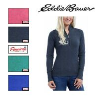 SALE! Eddie Bauer Ladies' Half Zip Pullover Sweat Shirt VARIETY SIZE/COLOR - F42
