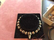 womans bracelet Made Of Dalmatian Rock