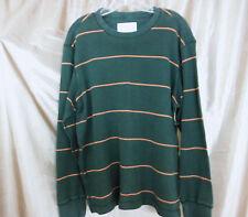 Men's Eddie Bauer Long Sleeve Pullover Sweater - Green Horizontal  Stripess - L