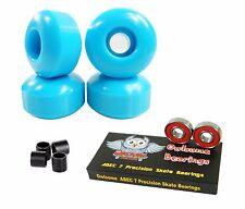 Blank Pro 52mm 99a Baby Blue Skateboard Wheels + Owlsome ABEC 7 Bearings