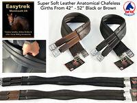 Easytrek Anatomical Elasticated Girth Super Soft Leather in Black or Brown