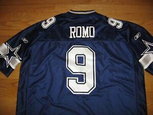 DALLAS COWBOYS TONY ROMO #9 NEW SEWN ON PATCHES JERSEY NFL REEBOK EQUIPMENT 3XL