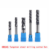 6PC Endmills 4Flute HRC50 HRC45 Carbide end mill for Tungsten Steel Milling tool