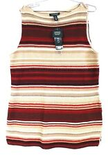 Lauren Ralph Lauren Indian Blanket Striped Knit Tunic Women's  XL NWT $125 NEW