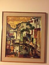 ORIGINAL SIGNED OIL PAINTING BY VALDI S. MARIS LISTED NEW JERSEY ARTIST DATED 62