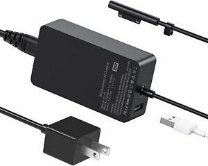 Powlaken for Surface Pro Charger 65W, Compatible with Surface Pro 3/4/5/6/7 Powe