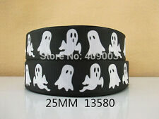 "Halloween/Ghost Ribbon 1"" Wide 1m is only £0.99 NEW UK SELLER"