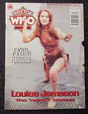 1994 DOCTOR WHO Marvel UK Magazine #215 VF- w/ 4 NM Postcards Louise Jameson