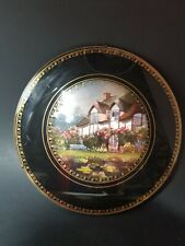 """Victorian Glass Chimney Flue Cover Wall Hanging English Cottage 8"""" Round Vintage"""