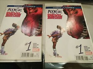 2 copies of Moon Girl and Devil Dinosaur #1 Timely Marvel Comics Low Print Run