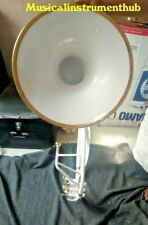 SOUSAPHONE ( WHITE & GOLD PATTERN ) MADE OF PURE BRASS METAL +CASE+FREE SHIPPING
