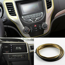 5M Chrome Gold Flexible Car Interior Moulding Trim Strip Line Decor Gap Filler