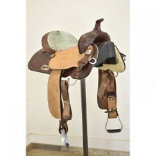 "New! 14"" High Horse Runaway Barrel Saddle By Circle Y Saddlery: 6223-M401-05"