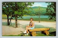 Neola WV, Sherwood Lake, Chrome West Virginia Postcard