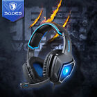 SADES Spirit Wolf 7.1 HiFi Stereo PRO Gaming Headset Headband Headphone with Mic