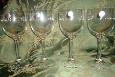 """""""Cristallerie Zwiesel"""" Water Wine Glasses Goblets  (Set of 4) w/ Stickers NWOB"""