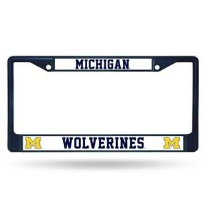 Michigan Wolverines Color Metal License Frame [NEW] Auto Car Truck Plate Steel