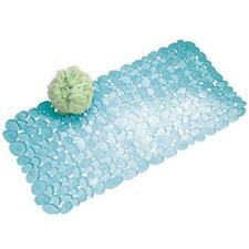 Interdesign Pebblz Non-Slip Suction Bath Mat For Shower Bathtub Blue Soft Quick