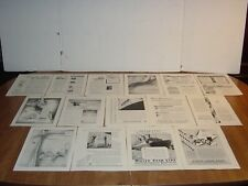 WHITE STAR LINE 26  FULL PAGE PRINT  NATIONAL GEOGRAPHIC ADS  ORIGINAL  WHITE