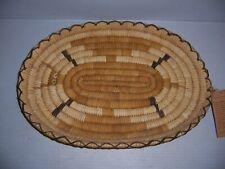 Vintage Papago Native American Indian Hand Crafted Praying Mantis Basket Tray