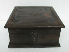 Vintage Old Wooden Box Iron Fitted Handcrafted Box, Collectible