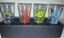 Lucky Brand Clovers Fat Boy Loggerhead Signatures Shot Glasses - SET OF 4