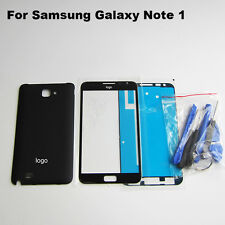 Black replacement battery door cover lcd screen glass galaxy note 1 n7000 i9220