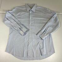 Ermenegildo Zegna Button Up Shirt Size Large 44/17.5 Blue Long Casual Mens B2
