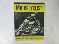 VINTAGE 'MOTORCYCLIST' MOTORCYCLE MAGAZINE, OCTOBER 1961