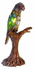 Tiffany Parrot Lamp Glass Accent Home Lighting Light Stained Handcrafted Antique
