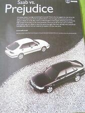 SAAB CAR 2000 POSTER ADVERT READY FRAME A4 SIZE E