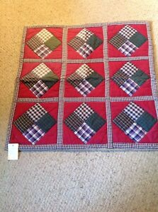"Ruchicaz Overseas Cotton Patchwork Quilt.  35"" X 35"".  #2."
